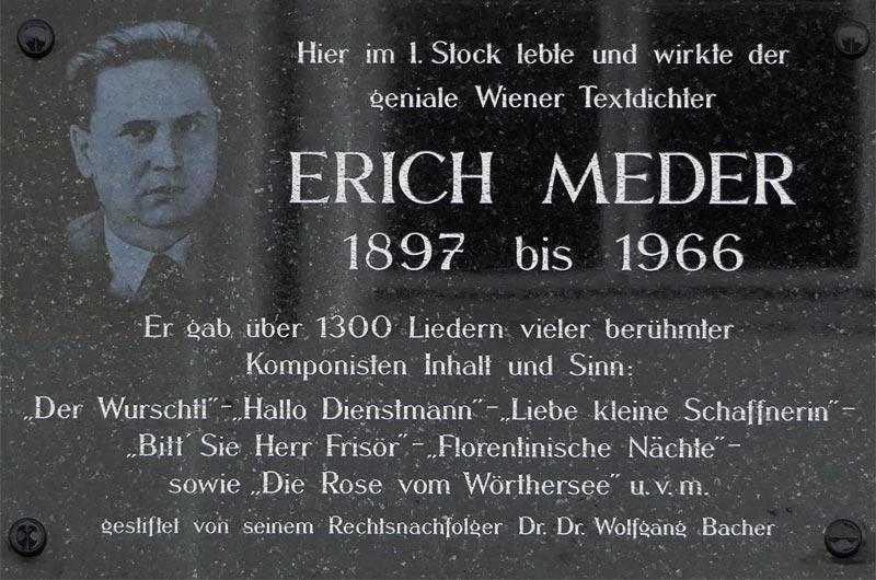 Erich Meder Gedenktafel